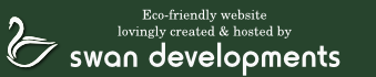 Eco-friendly website lovingly created & hosted by Swan Developments